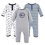 Hudson Baby® 3-6M 3-Pack Aviation Union Suit