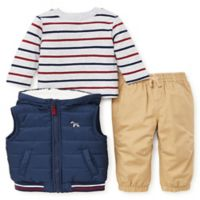 Little Me® Size 18M 3-Piece Vest, Shirt, and Pant Set in Navy