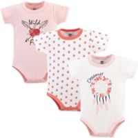 Yoga Sprout Size 12-18M 3-Pack Dream Catcher Short Sleeve Bodysuits in Pink