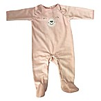 Sterling Baby Size 3M Bunny Footed Coverall in Pink