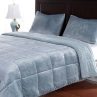 Berkshire Velvetloft® Reversible Twin Comforter Set in Light Blue