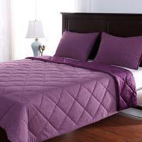 Berkshire Velvetloft® Reversible Jersey Twin Comforter Set in Eggplant