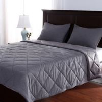 Berkshire Velvetloft® Reversible Jersey Full/Queen Comforter Set in Grey