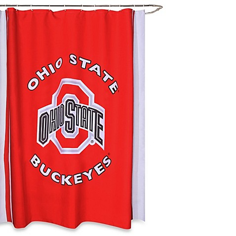 Ohio State University 71 Inch X 71 Inch Shower Curtain