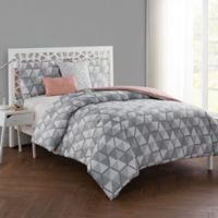 VCNY Home Brynley Reversible 5-Piece King Comforter Set in Grey