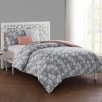 VCNY Home Brynley Reversible King Duvet Cover Set in Grey