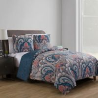 VCNY Home Casa Re Àl Reversible Duvet Cover Set in Coral