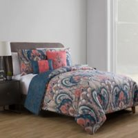 VCNY Home Casa Re Àl Reversible King Comforter Set in Coral