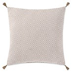 Oceanfront Resort Chambray Coast 18x18 Pillow in White/Grey