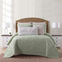 Oceanfront Resort Chambray Coast King 3 Piece Quilt Set in Green