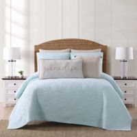 Oceanfront Resort Chambray Coast King 3 Piece Quilt Set in Aqua