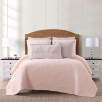 Oceanfront Resort Chambray Coast King 3 Piece Quilt Set in Blush