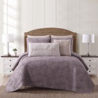 Oceanfront Resort Chambray Coast Full/Queen 3 Piece Quilt Set in Plum