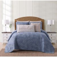 Oceanfront Resort Chambray Coast King 3 Piece Quilt Set in Blue