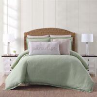 Oceanfront Resort Chambray Coast Twin XL 2 Piece Comforter Set in Green