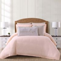 Oceanfront Resort Chambray Coast King 3 Piece Comforter Set in Blush
