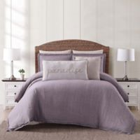 Oceanfront Resort Chambray Coast King 3 Piece Comforter Set in Plum
