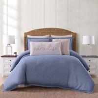 Oceanfront Resort Chambray Coast Twin XL 2 Piece Comforter Set in Blue
