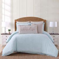 Oceanfront Resort Chambray Coast Twin XL 2 Piece Comforter Set in Aqua
