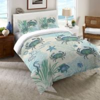 Laural Home® Blue Crab Twin Comforter in Blue