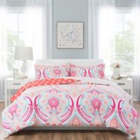 Nicole Miller Kids Medallion 5-Piece Twin Comforter Set in Pink