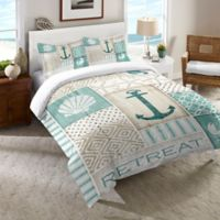 Laural Home® Coastal Retreat Twin Comforter in Blue