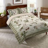 Laural Home® Woodland Forest Queen Comforter in Green