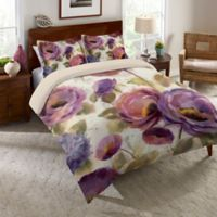 Laural Home® Flower Song Twin Comforter in Purple