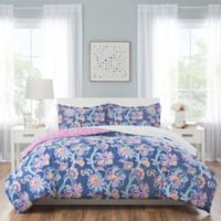 Nicole Miller Kids Floral 5-Piece Twin Comforter Set in Blue