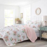 Laura Ashley® Honeysuckle King Quilt Set in Pink