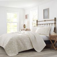 Laura Ashley® Joans Excursion Twin Quilt Set in Beige