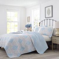 Laura Ashley® Winnie Twin Quilt Set in Grey/Blue