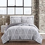 Mellow 3-Piece Full/Queen Comforter Set in Grey