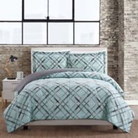 Justinya 3-Piece Full/Queen Comforter Set in Turquoise/Grey