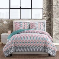 Nomad Geometric Full/Queen 3-Piece Comforter Set in Teal
