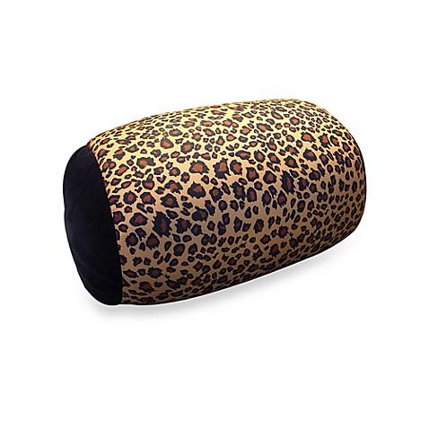 Homedics 174 Sqush Tube Animal Print Pillow Leopard Bed