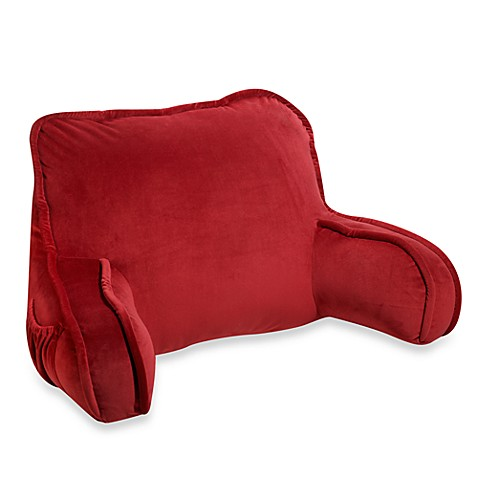 Plush Backrest Pillow In Red Bed Bath Amp Beyond