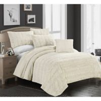 Brielle Faux Fur King Blanket in Ivory