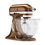 KitchenAid® 5 qt. Artisan® Design Series Stand Mixer with Glass Bowl in Antique Copper