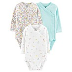 carter's® Size 6M 3-Pack Unicorn Long Sleeve Side-Snap Bodysuits