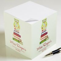 Wise Owl Paper Note Cube