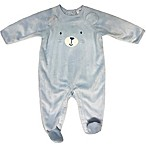 Sterling Baby 6M Plush Bear Footie in Blue