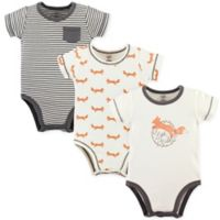 Touched by Nature 12-18M 3-Pack Fox Organic Bodysuits