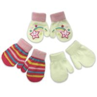 Toby Fairy™ Infant 3-Pack Shooting Star Gripper Mittens