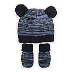 Toby® Infant Striped Bear Hat and Mitten Set in Blue