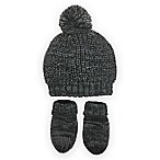 Toby® Infant Pull-On Hat and Mitten Set in Dark Grey