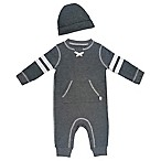 Mini Heroes™ Size 9M 2-Piece Coverall and Hat Set in Grey