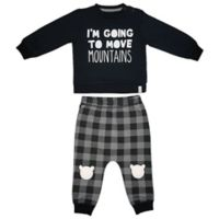 Mini Heroes™ Size 18M 2-Piece Move Mountains Long-Sleeve Shirt and Pant Set