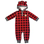 Mini Heroes™ Size 12M Plaid Hooded Coverall in Red