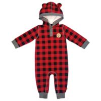 Mini Heroes™ Size 18M Plaid Hooded Coverall in Red